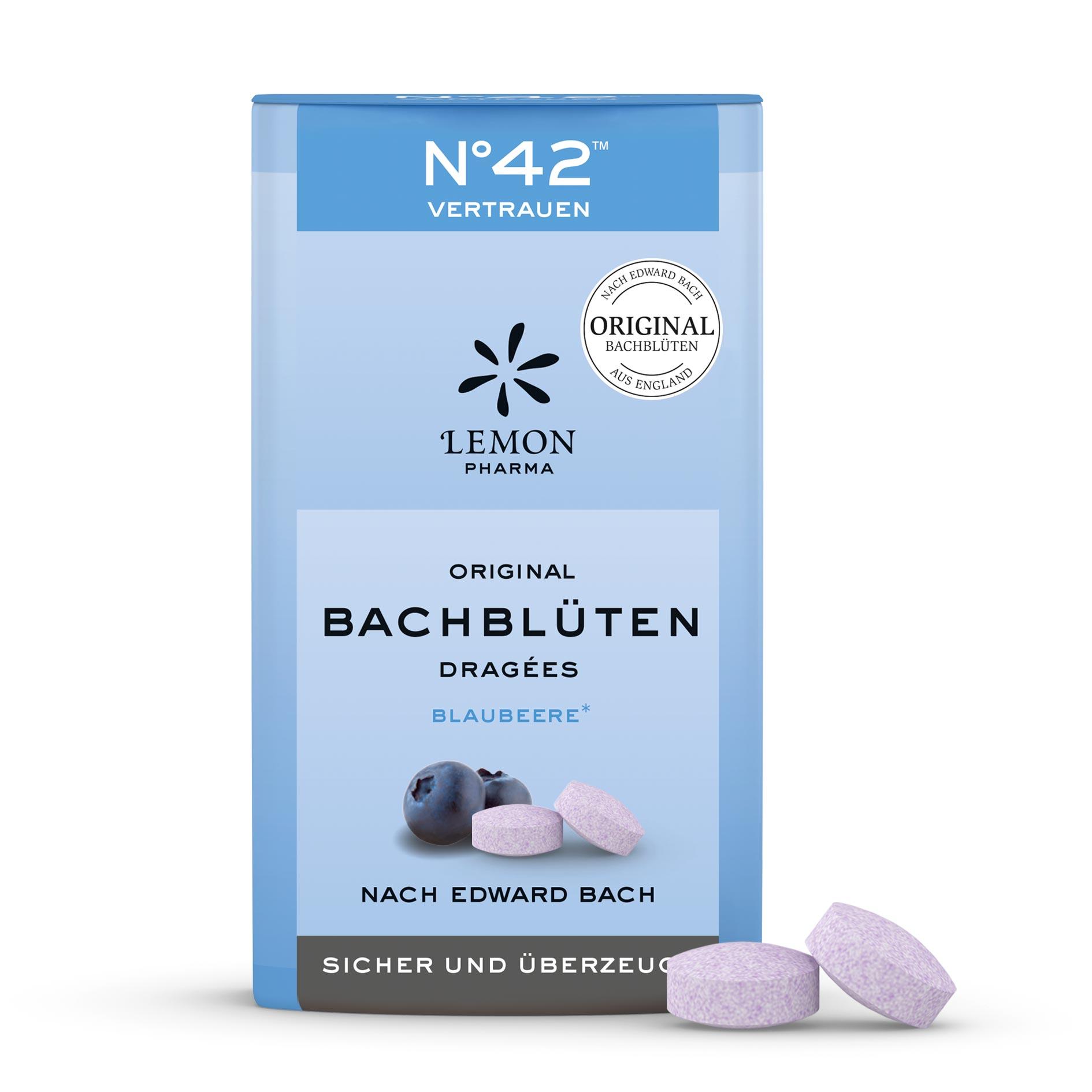 Fiori di Bach originali Lemon Pharma Nr 42 Fiducia confetti Sicuro e convinto mirtillo