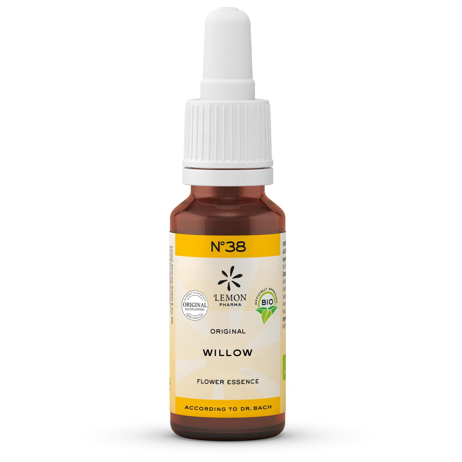 Fiori di Bach originali Lemon Pharma Gocce Nr 38 Willow salice responsabilità personale