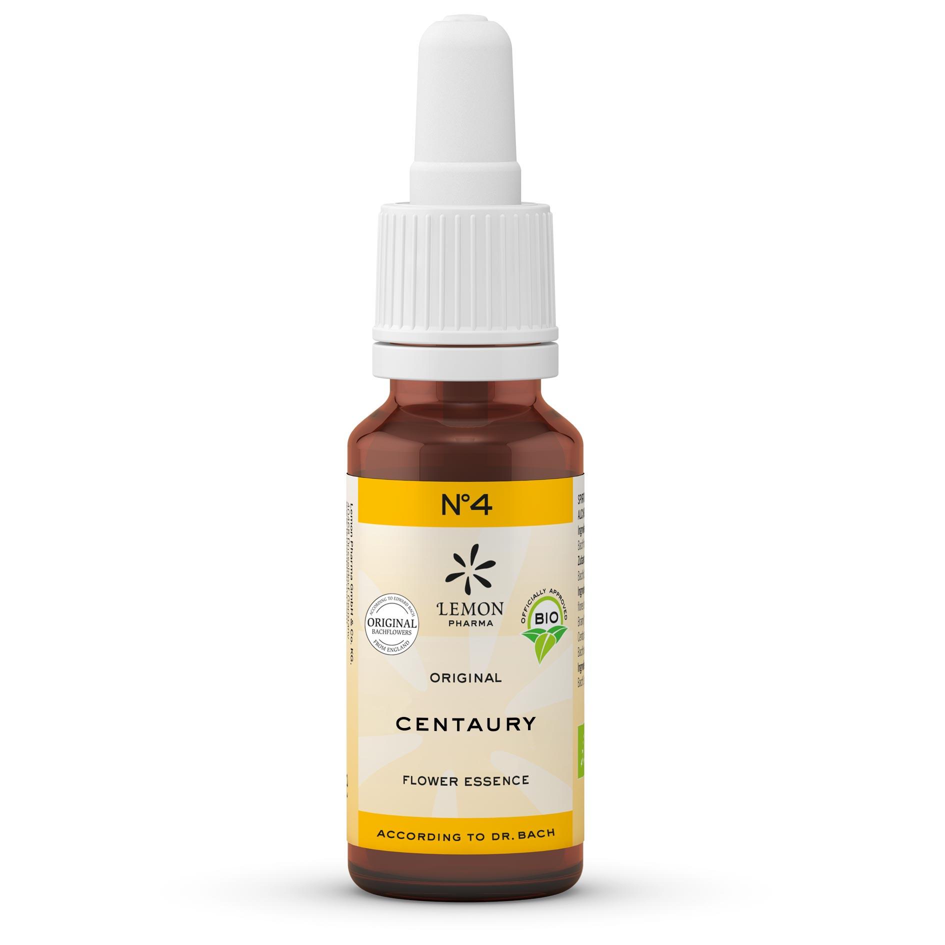 Fiori di Bach originali Lemon Pharma gocce Nr 4 Centaury centaurea capacità di autoaffermarsi