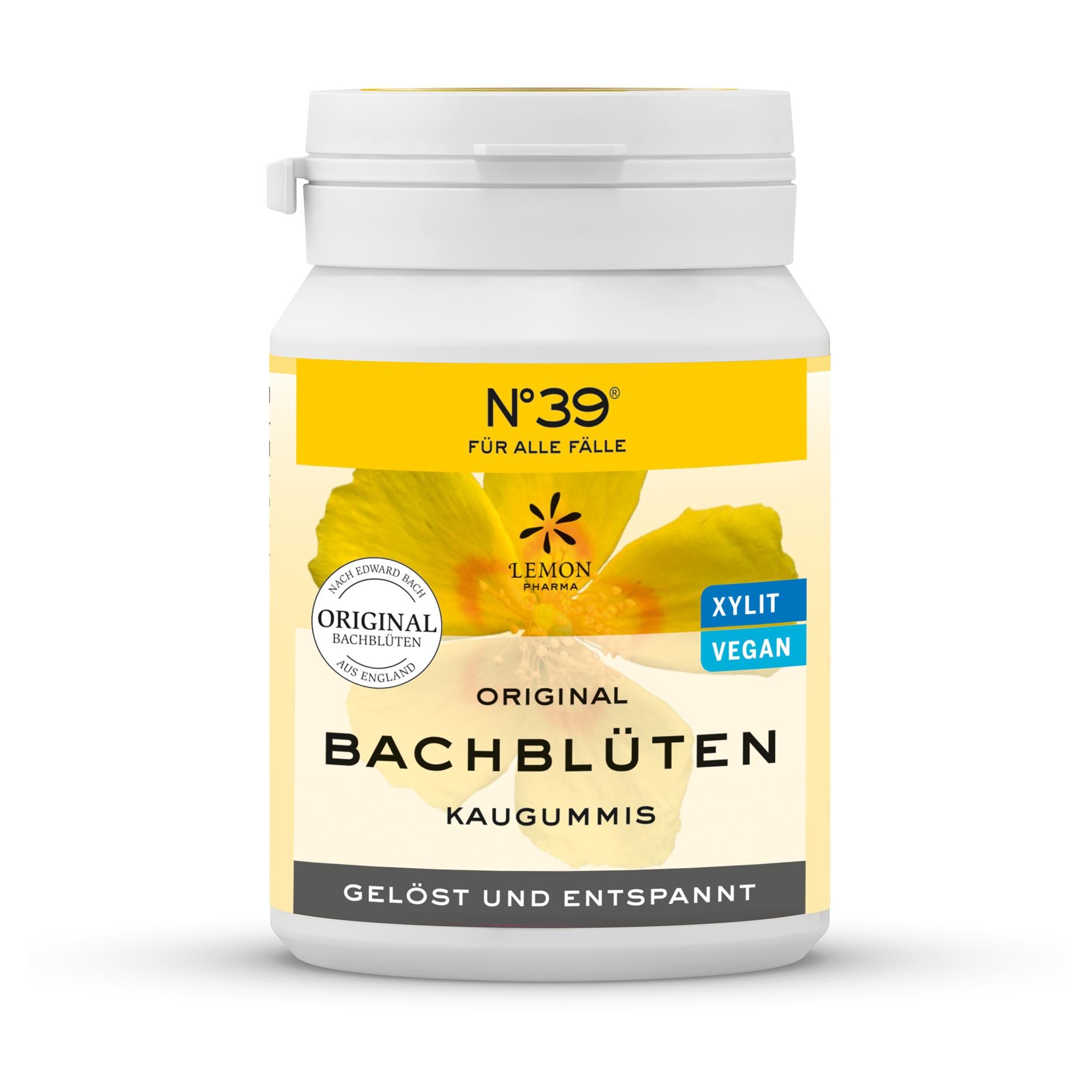 Gomma da masticare 39 Per tutti i casi Fiori di Bach originali Lemon Pharma Rilassato e riposato Rescue