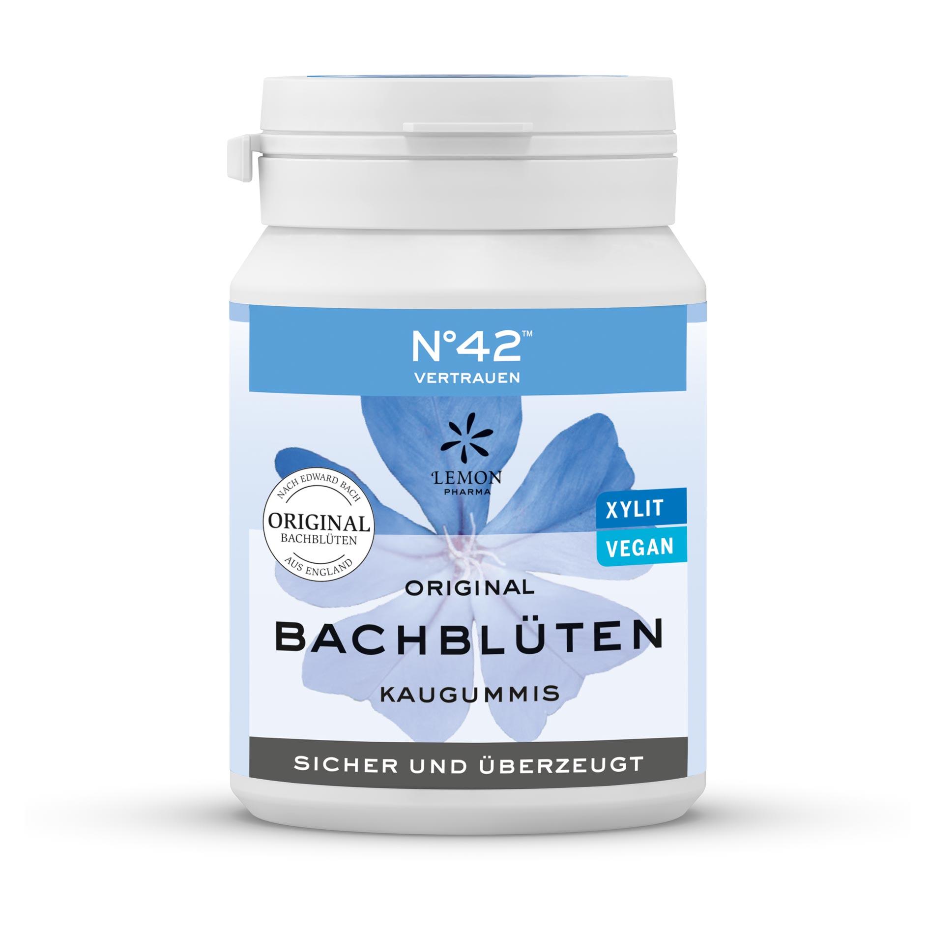 Gomme da masticare 42 fiducia Fiori di Bach originali Lemon Pharma Bach flowers sicuro e convinto xylit vegano Intuizione