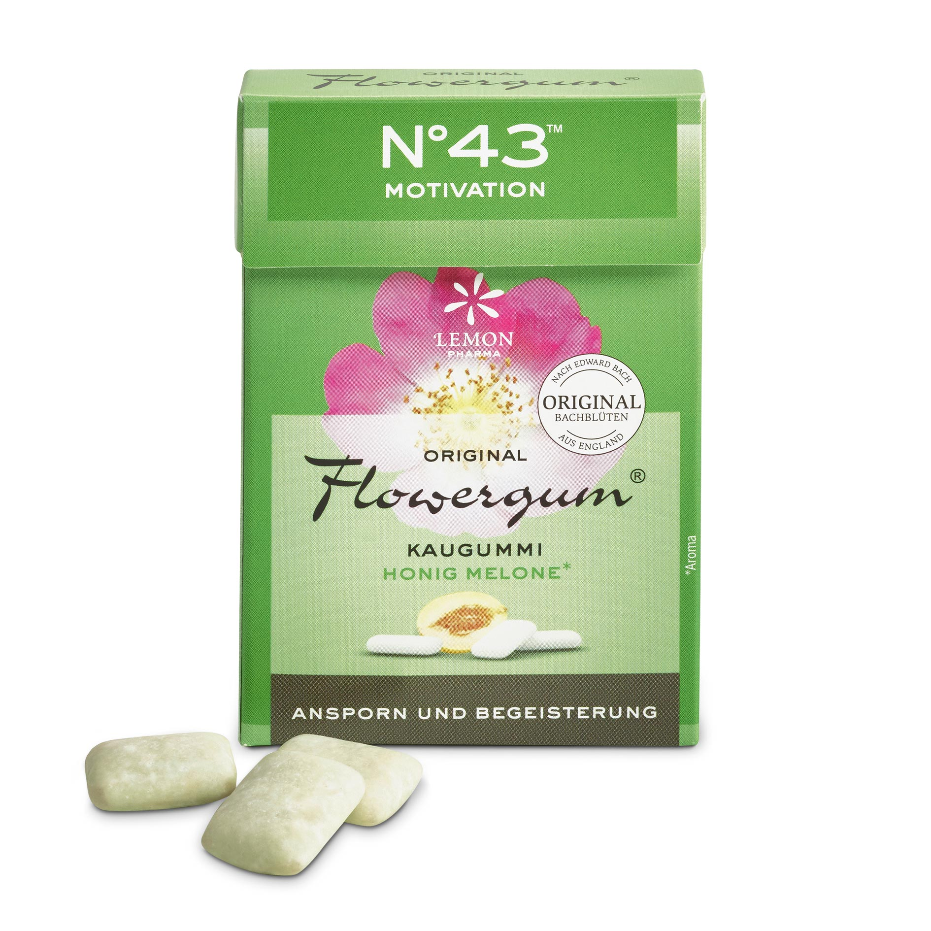 Flowergum 43 Motivazione Fiori di Bach originali Lemon Pharma Bach flowers Slancio ed entusiasmo Murnauers