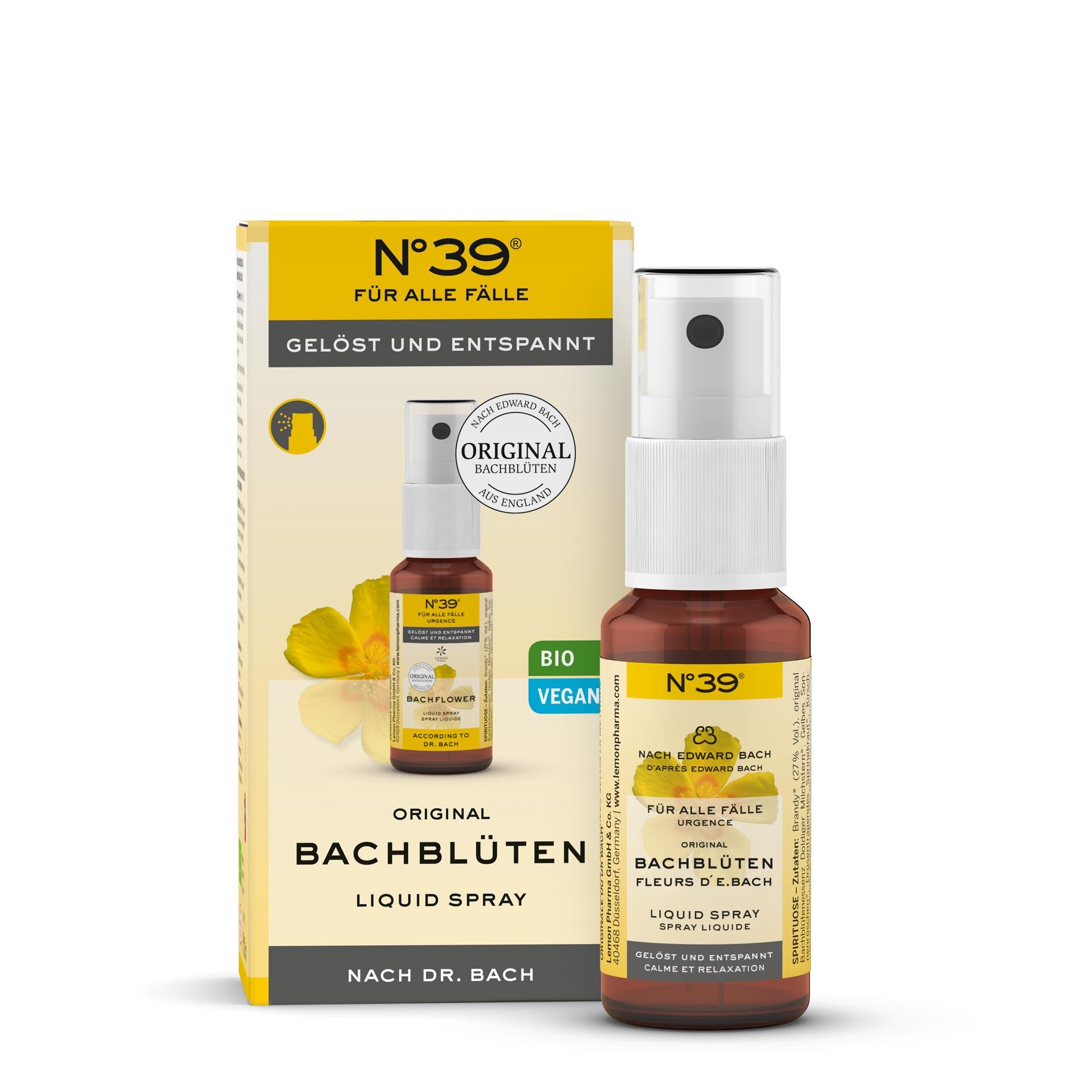 Spray liquido 39 Per tutti i casi Lemon Pharma fiori di Bach originali bach flower rilassato e riposato