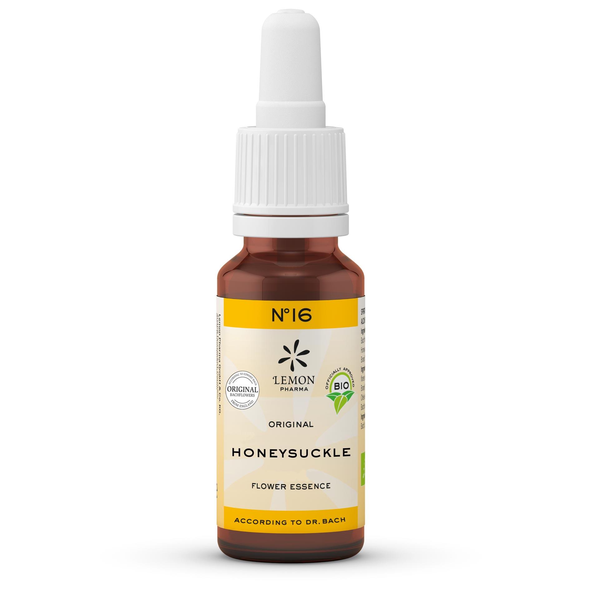 Fiori di Bach originali Lemon Pharma No 16 Honeysuckle caprifoglio presente