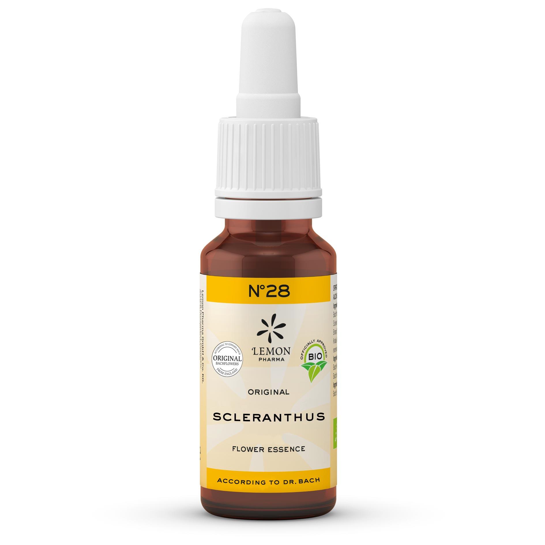 Lemon Pharma Original Bachblüten Tropfen Nr 28 Scleranthus Einjähriger Knäuel Innere Balance