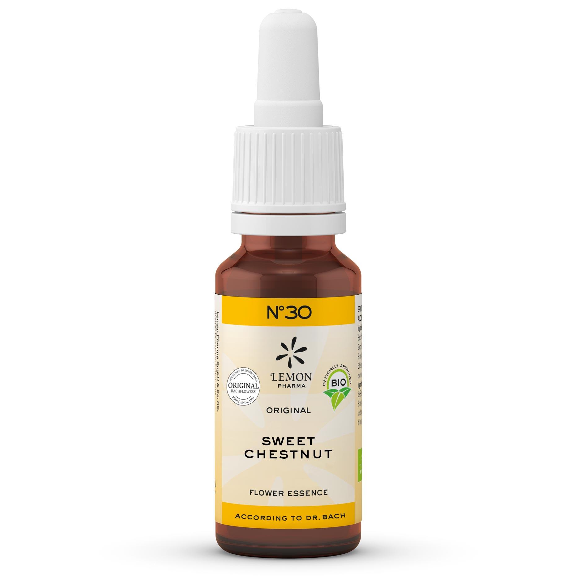 Lemon Pharma Original Bachblüten Tropfen Nr 30 Sweet Chestnut Edelkastanie Belebung