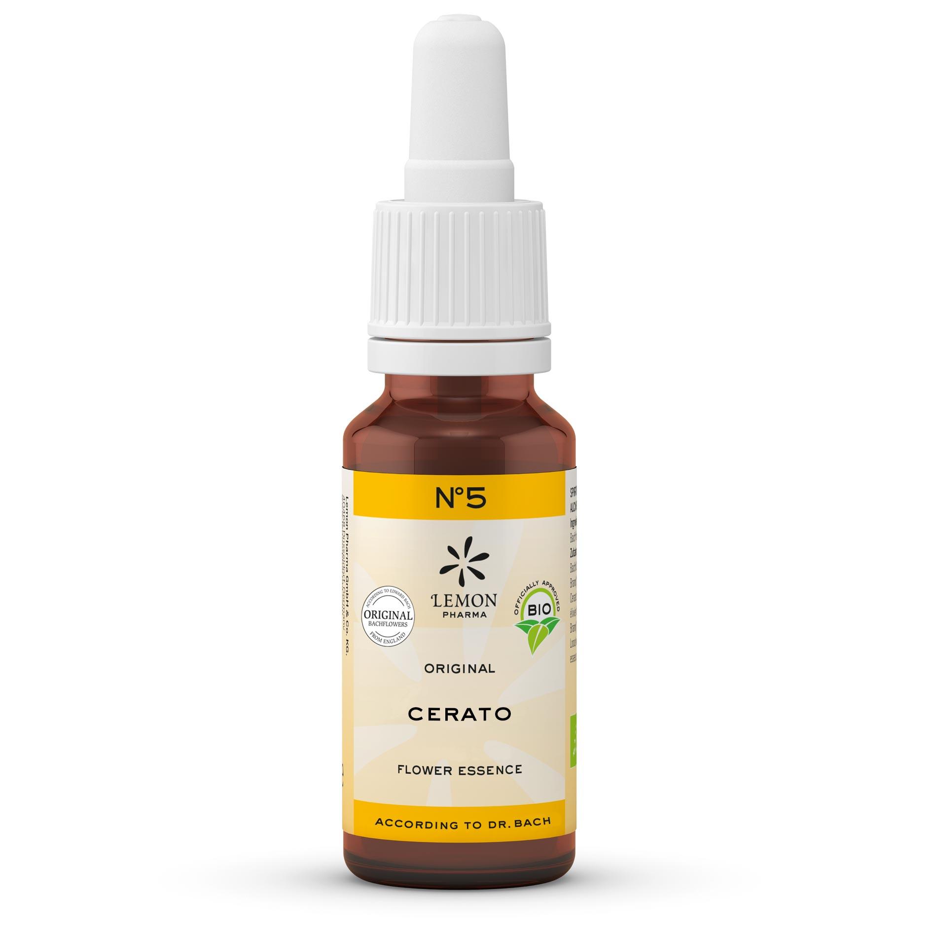 Lemon Pharma Original Bachblüten Tropfen Nr 5 Cerato Bleiwurz Intuition